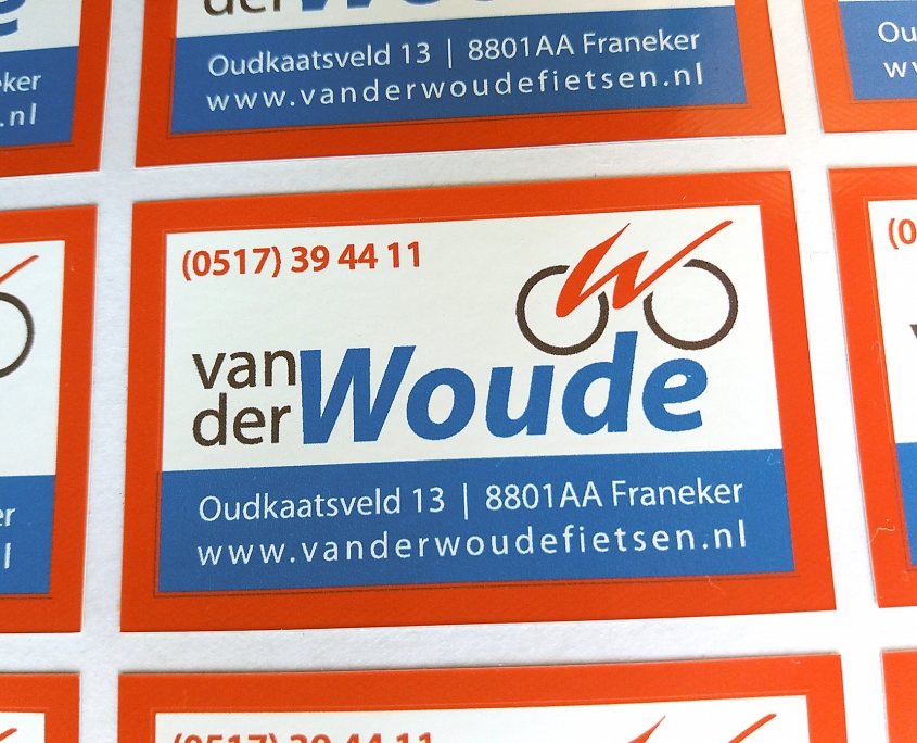 515 Signs stickers Van der Woude